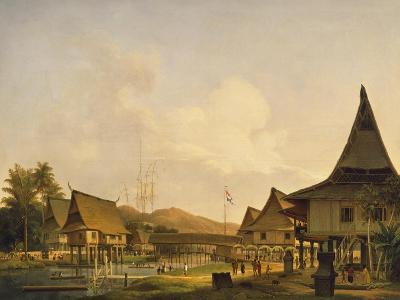 View of a Village on the Island of Celebes--Giclee Print