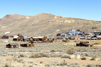 View of Abandoned Houses with Standard Mill in Bodie Ghost Town-Jill Schneider-Photographic Print