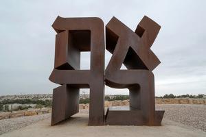 View of Ahava Sculpture, Israel Museum, Jerusalem, Israel