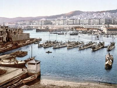 View of Algiers Harbour from the Admiralty, Pub. 1900--Giclee Print