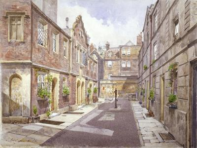 View of Almshouses in Cock Court, Jewry Street, City of London, 1886-John Crowther-Giclee Print