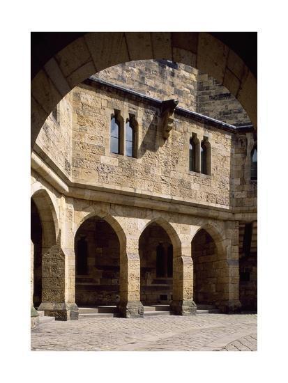 View of Alnwick Castle Courtyard, Northumberland, England--Giclee Print