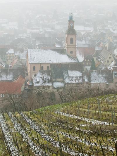 View of Alsatian Wine Village, Riquewihr, Haut Rhin, Alsace, France-Walter Bibikow-Photographic Print