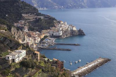 View of Amalfi, from Pastena, Costiera Amalfitana (Amalfi Coast), Campania, Italy-Eleanor Scriven-Photographic Print