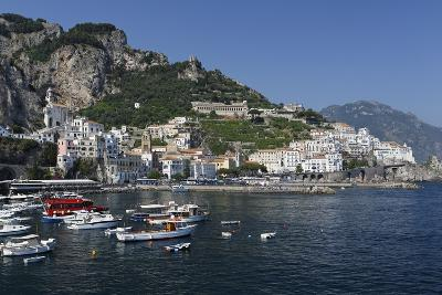 View of Amalfi Harbor, Campania, Italy-George Oze-Photographic Print