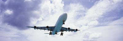 View of an Airplane in Flight, Maho Beach, Sint Maarten, Netherlands Antilles--Photographic Print