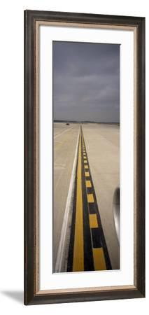View of an Airport Runway, O'Hare Airport, Chicago, Cook County, Illinois, USA--Framed Photographic Print