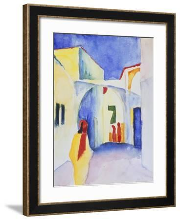 View of an Alley, 1914-August Macke-Framed Giclee Print