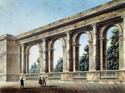 View of an Arched Gallery, C1791-C1794-Thomas de Thomon-Giclee Print