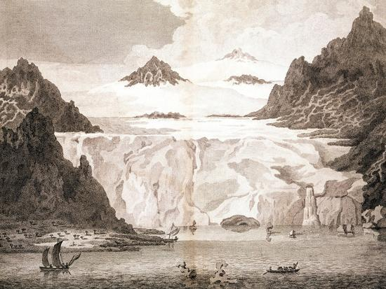 View of an Iceberg from a Voyage Towards the North Pole Undertaken by His Majesty's Command, 1774-John Cleveley the Younger-Giclee Print