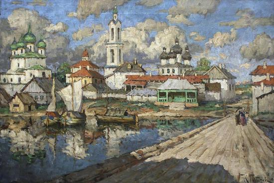 View of an Old Town, 1919-Konstantin Ivanovich Gorbatov-Giclee Print