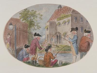 View of Anglers Opposite Sadler's Wells Theatre. Finsbury, Islington, London, C1800-S Woodward-Giclee Print