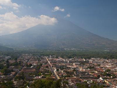 View of Antigua and Volcan De Agua, Guatemala, Central America-Sergio Pitamitz-Photographic Print