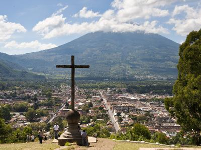 View of Antigua from Cross on the Hill Park, UNESCO World Heritage Site, Guatemala, Central America-Michael DeFreitas-Photographic Print