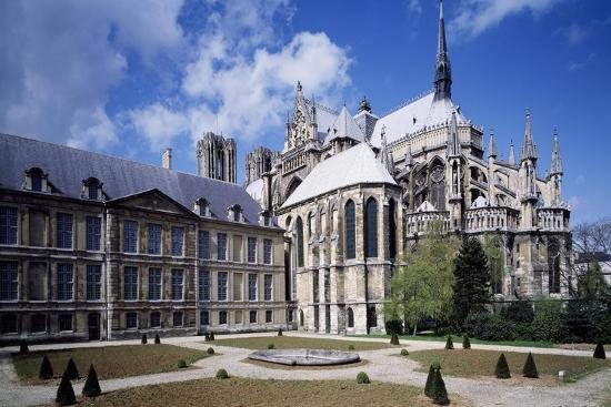 View of Apse of Archbishop's Palace of Cathedral of Notre-Dame , Reims, France 13th Century--Giclee Print