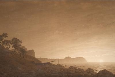 View of Arkona with Rising Moon, Ca 1806-Caspar David Friedrich-Giclee Print