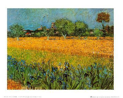 View of Arles with Irises-Vincent van Gogh-Art Print