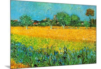 View of Arles with Irises-Vincent van Gogh-Mounted Print