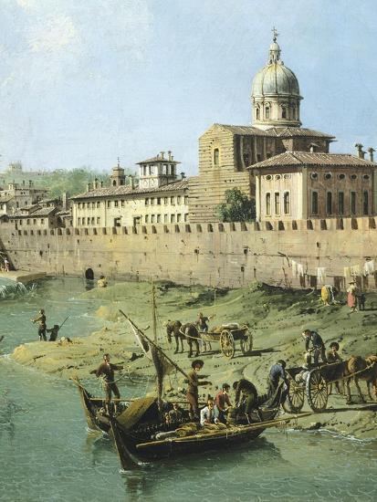 View of Arno from Vaga Loggia in Florence, Circa 1742-Bernardo Bellotto-Giclee Print