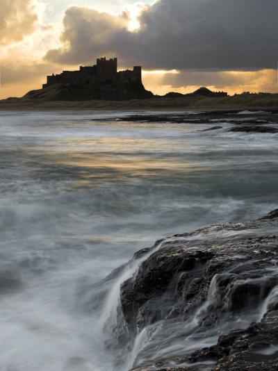 View of Bamburgh Castle at Sunset, UK-David Clapp-Photographic Print