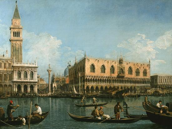 View of Basin of St Marks Square, Venice-Canaletto-Giclee Print