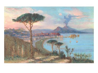 View of Bay of Naples, Italy--Art Print