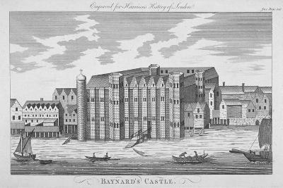 View of Baynard's Castle with Boats on the River Thames, City of London, 1775--Giclee Print