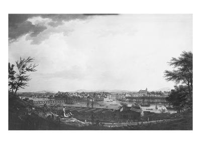 View of Bayonne Seen from Halfway Down the Citadel, 1761-Claude Joseph Vernet-Premium Giclee Print