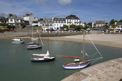 View of Beach and Boats in Harbour, Locquirec, Finistere, Brittany, France, Europe-Stuart Black-Photographic Print