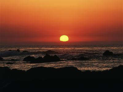View of Beach at Sunset, Pacific Grove, Monterey Peninsula, California, USA-Stuart Westmorland-Photographic Print