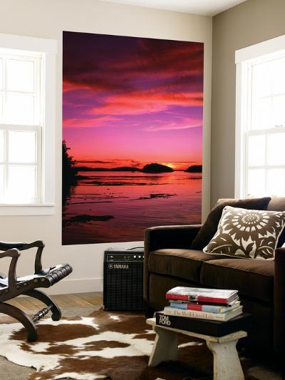 View of Beach at Sunset, Vancouver Island, British Columbia-Stuart Westmorland-Giant Art Print