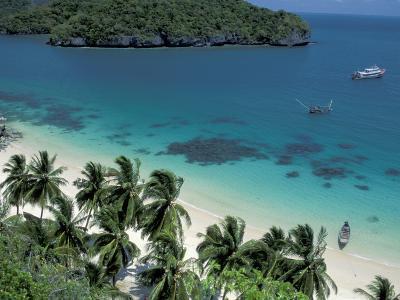 View of Beach, Ko Samui Island, Thailand-Nik Wheeler-Photographic Print