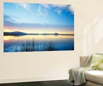 View of Bear River at Dusk, Cache Valley, Great Basin, Utah, USA-Scott T^ Smith-Wall Mural