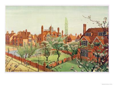 View of Bedford Park, 1882--Giclee Print