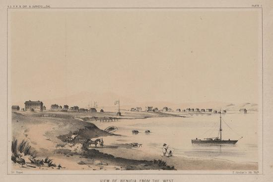 View of Benicia from the West, 1856-Charles Koppel-Giclee Print