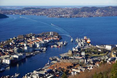 View of Bergen from Mount Floyen, Bergen, Hordaland, Norway, Scandinavia, Europe-Robert Harding-Photographic Print