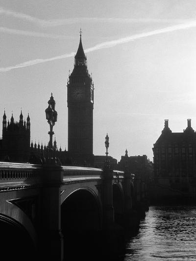 View of Big Ben from Across the Westminster Bridge-Jack Hollingsworth-Photographic Print