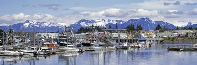 View of Boats Stationed on a Harbor, South Harbor, Petersburg, Alaska, USA--Photographic Print