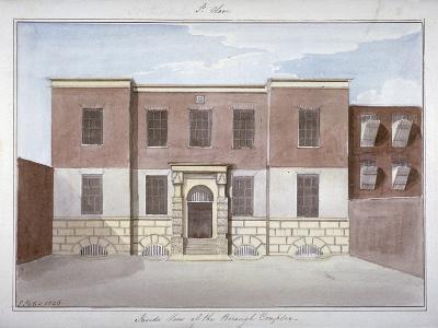 View of Borough Compter, a Debtors' Prison in Mill Lane, Bermondsey, London, 1826-G Yates-Giclee Print