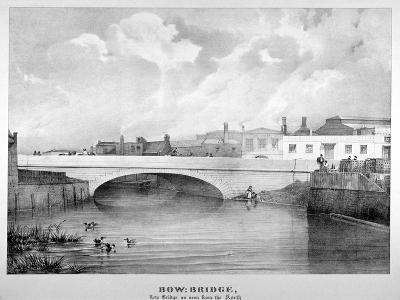 View of Bow Bridge from the North, London, C1835--Giclee Print