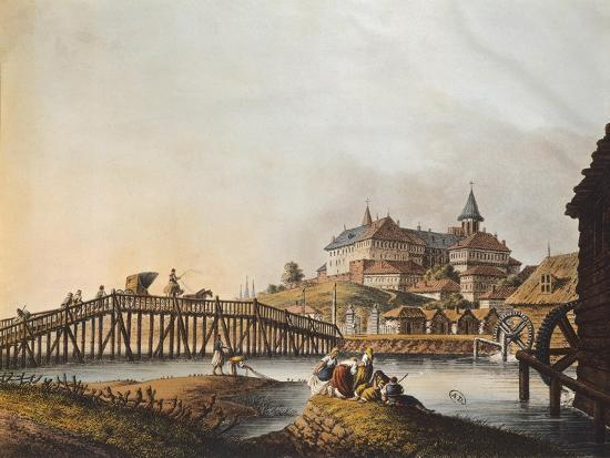 View of Bucarest Palace, 1810, Romania 19th Century Print--Giclee Print
