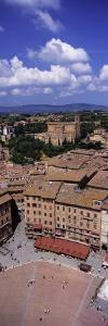 View of Buildings in a City, Piazza Del Campo, Siena, Siena Province, Tuscany, Italy