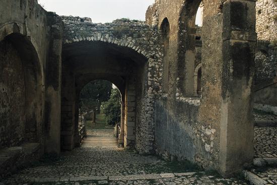 View of Caetani Castle, 13th Century, Sermoneta, Lazio, Italy--Photographic Print