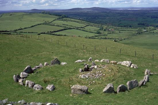 View of Cairn S in the Loughcrew hills, 36th century BC. Artist: Unknown-Unknown-Photographic Print