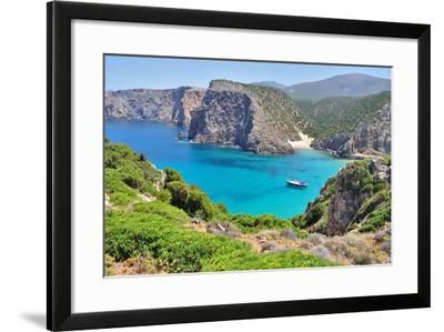 View of Cala Domestica Beach, Sardinia, Italy-sfocato-Framed Photographic Print