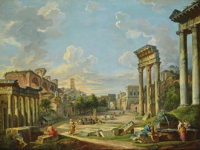 View of Campo Vaccino in Rome, 1740-Giovanni Paolo Pannini-Giclee Print