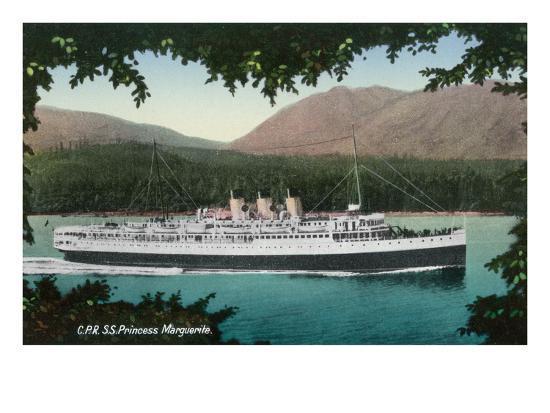 View of Canadian Pacific Railway Liner SS Princess Marguerite-Lantern Press-Art Print