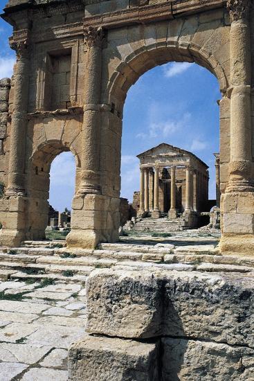 View of Capitolium, Ancient Roman City of Sufetula, Sbeitla, Tunisia--Giclee Print