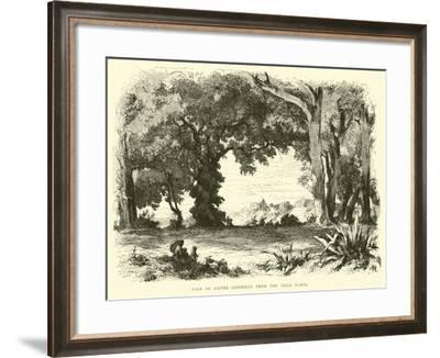 View of Castel Gandolfo from the Villa Doria--Framed Giclee Print