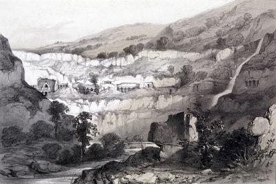 View of Caves, Ajunta, India, 1844-Thomas Colman Dibdin-Giclee Print